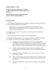 Trade Mark Opposition Decision 0/380/02