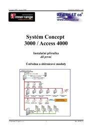 Systém Concept 3000 / Access 4000 - Eurosat CS