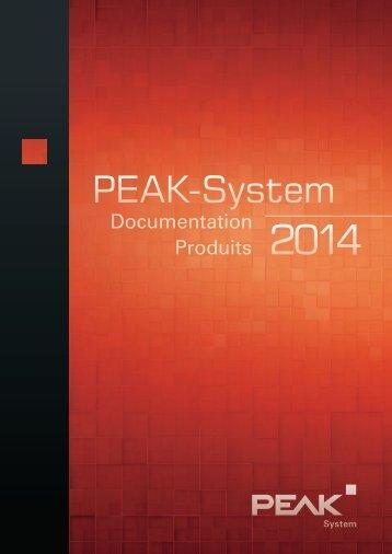 Documentation Produits 2013 - PEAK-System
