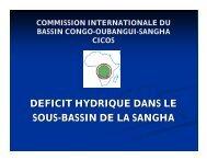 deficit hydrique dans le sous-bassin de la sangha - INBO