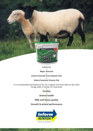 english a4 leaflet sweetlics sheep:Layout 1 - Inform Nutrition