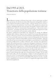 Dal 1993 al 2023. Traiettorie della popolazione ... - Torino Strategica