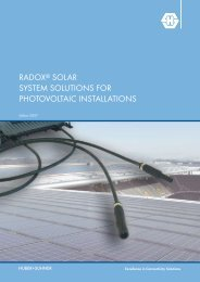 RADOX Solar System Solutions for Phtovoltaic Installations