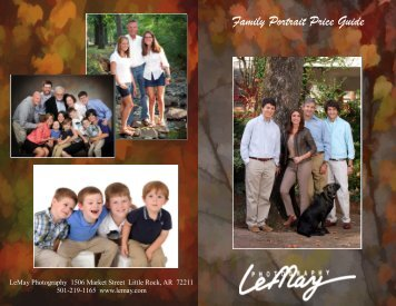 Family Portrait Price Guide - LeMay Photography