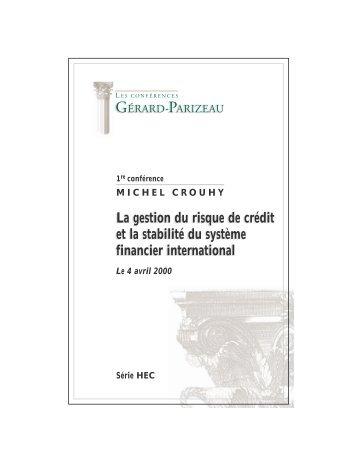 La gestion du risque de crédit et la stabilité du système financier ...
