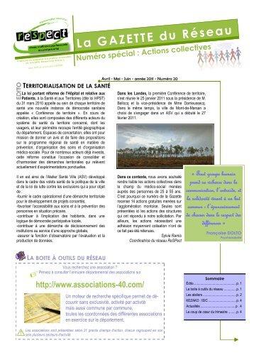Gazette n°20 - Ireps Aquitaine