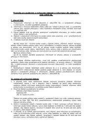 Pravidla pro podávání a vyřizování žádostí o ... - Český Krumlov