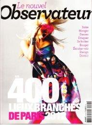 Le Nouvel Observateur June 2012 - Studio Marisol