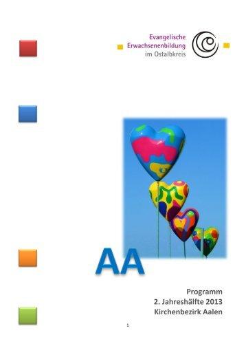 Programm im Dekanat Aalen, 2. Halbjahr 2013 - Evangelische ...