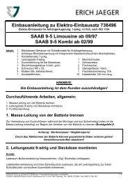 Einbauanleitung zu Elektro-Einbausatz 736496 SAAB 9-5 ... - Kfzpoint