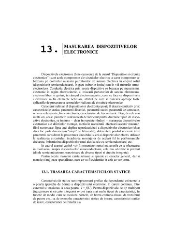Capitolul 13 - Masurarea dispozitivelor electronice