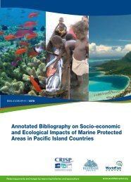 Annotated Bibliography on Socio-economic and Ecological ... - CRISP