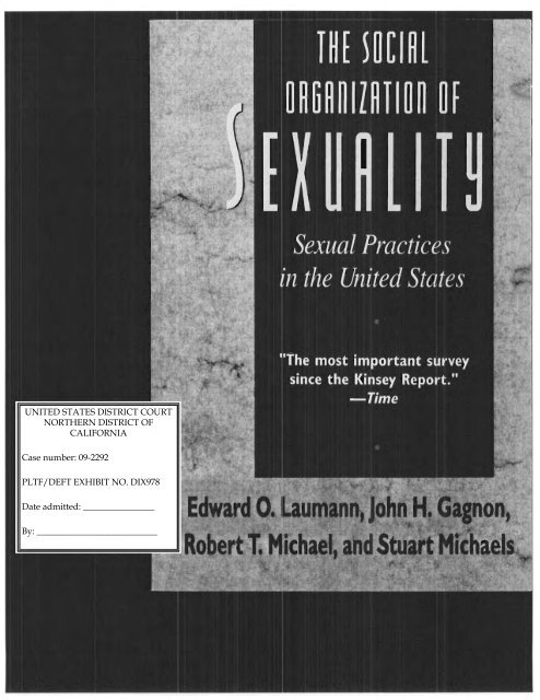 The Social Organization of Sexuality: Sexual Practices in the United States