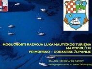 Mogućnosti razvoja luka nautičkog turizma - zavod pgz - Primorsko ...