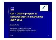 CIP – Okvirni program za konkurenčnost in inovativnost 2007-2013