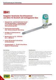 Kompakter thermischer Durchflussmesser und Zähler für Druckluft ...