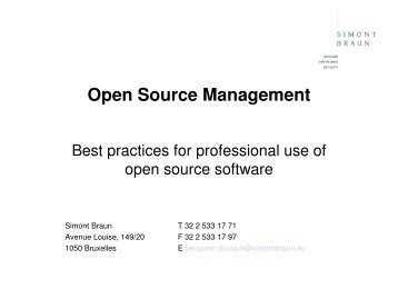 Open Source Management - Profoss