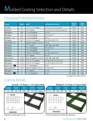 Molded Grating Selection and Details - Fibergrate Composite ...