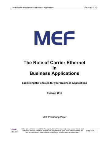 Carrier ethernet 20 certification blueprint version11 mef the role of carrier ethernet in business applications mef malvernweather Image collections