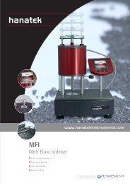 Melt Flow Indexer - ATI Corp