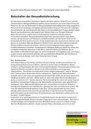 Botschafter der Gesundheitsforschung (PDF) - Wissenschaftsjahr ...