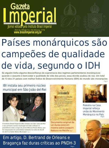 Países monárquicos são campeões de qualidade ... - Brasil Imperial