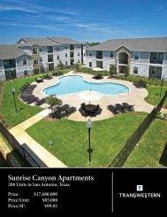 Sunrise Canyon Apartments - Transwestern