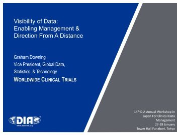 Visibility of Data: Enabling Management & Direction From A Distance