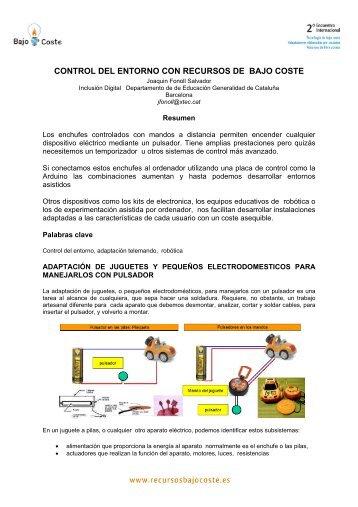Control del entorno con recursos de bajo coste - CRMF Albacete