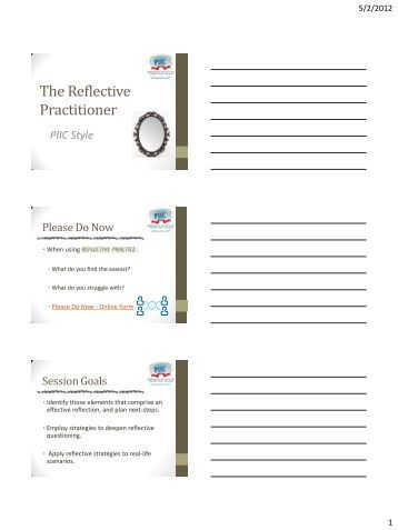 reflective notes How to write a reflection paper reflection papers allow you to communicate with your instructor about how a specific article, lesson in your notes.
