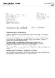 Abschlußbericht und Bilanz für die Saison 2007 ... - Tt-mistelgau.com