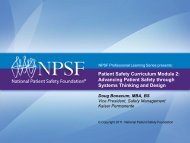 Patient Safety Curriculum Module 2 - National Patient Safety ...