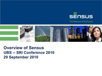 Overview of Sensus - Customers & Distributors