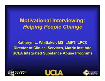 Motivational Interviewing: Helping People Change - UCLA ...