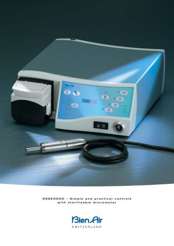 OSSEODOC – Simple and practical controls with sterilisable ...
