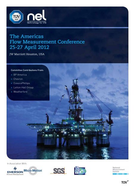 The Americas Flow Measurement Conference 25-27     - TUV NEL