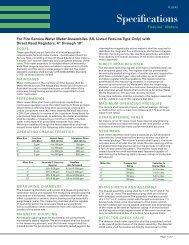 UL FireLine Meter Specifications (FLUL) - Sensus