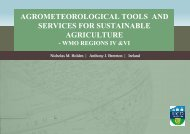agrometeorological tools and services for sustainable agriculture