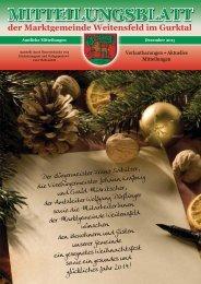 Mitteilungsblatt Dezember - Marktgemeinde Weitensfeld
