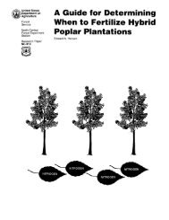 A guide for determining when to fertilize hybrid poplar ... - Woodweb