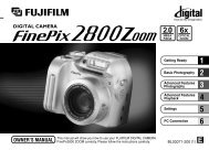 FinePix 2800 Zoom Manual - Fujifilm Canada