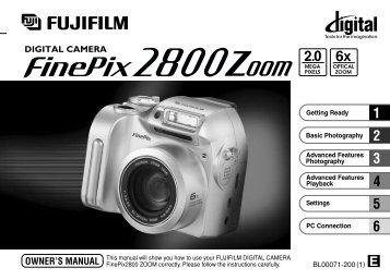 fujifilm finepix e550 digital camera user manual download pdf rh yumpu com FinePix F31fd FinePix E500