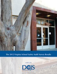 The 2012 Virginia School Safety Audit Survey Results