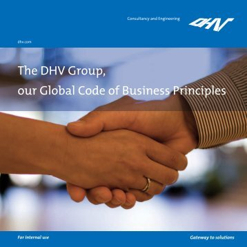 The DHV Group, our Global Code of Business Principles