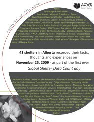 Alberta Data Count.indd - Alberta Council of Women's Shelters