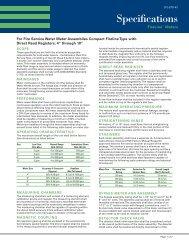Compact FireLine Meter Specifications (CFL-STD) - Sensus