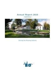 Annual Report 2010 - B&O - Lösungen für die Wohnungswirtschaft