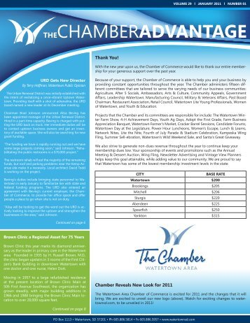 THeCHAMBERaDVaNTaGe - Watertown Chamber of Commerce