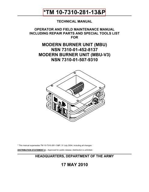 MBU Vent Valve Assembly 980280K