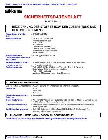 SICHERHEITSDATENBLATT - Klaus Baubeschläge GmbH